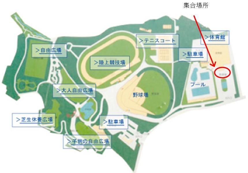 船橋市総合運動公園地図