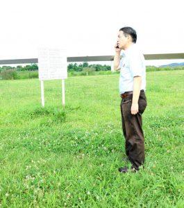 第5回多摩川の河川敷から電波を出す筆者